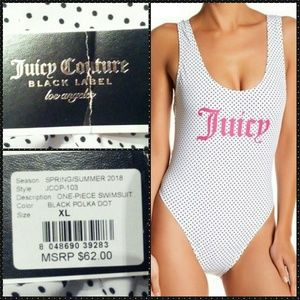 Juicy Couture Juicy Verbiage 1Pc Swimsuit Sz XL